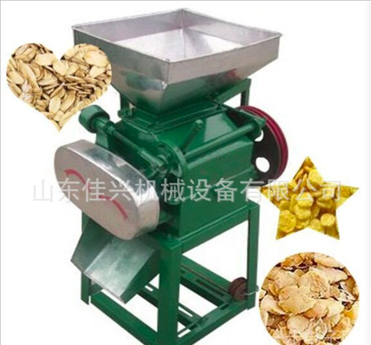 厂家直销大豆挤扁机 高粱磕瓣破碎机 菜籽对辊粉碎机