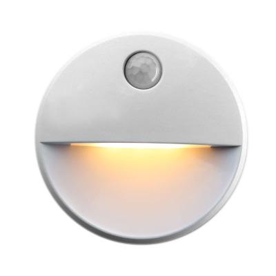 新奇特充电led人体感应灯创意礼品圆形衣柜橱柜灯智能小夜灯