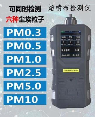 厂家直销HT-6061熔喷布颗粒物过滤效率穿透过滤尘埃粒子计数器