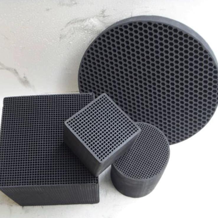 现货供应 环保喷漆去味用活性炭 耐水型蜂窝活性炭 活性炭块