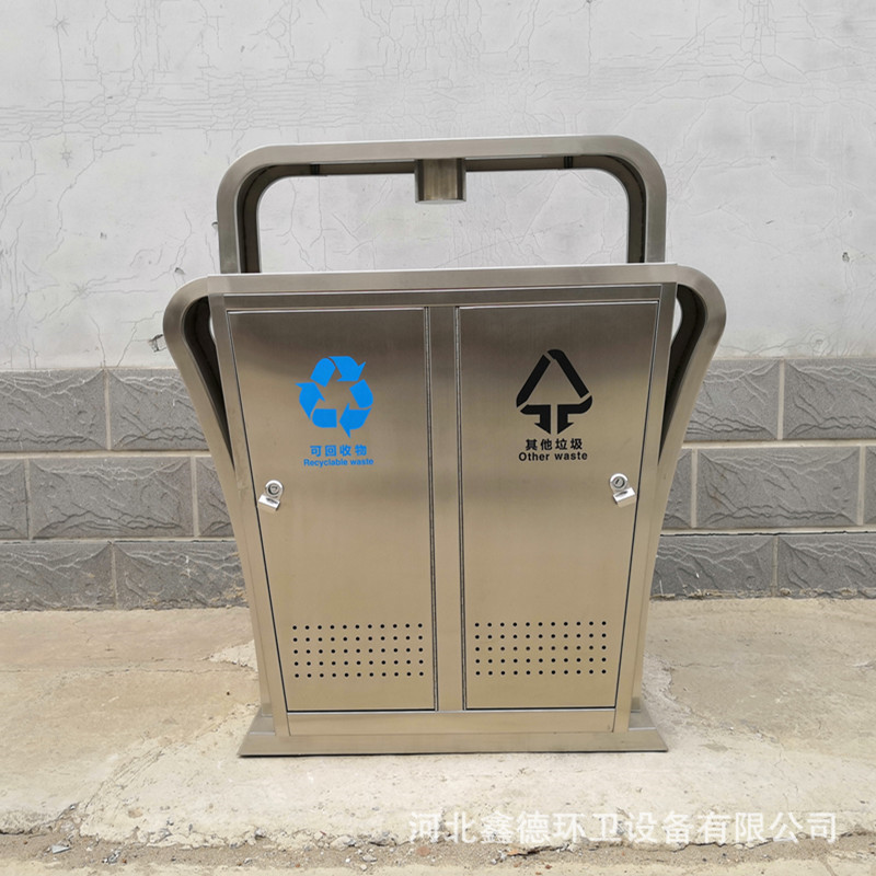内胆不锈钢垃圾箱内桶 物业广场不锈钢果皮箱 定制垃圾桶果皮箱