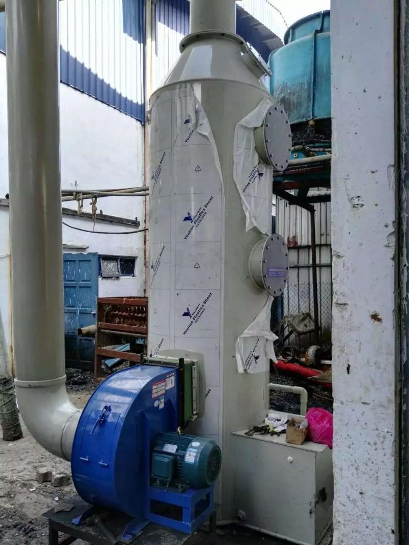 马来西亚 东南亚塑胶厂废气处理pp喷淋塔水喷淋塔 废气除臭洗涤塔