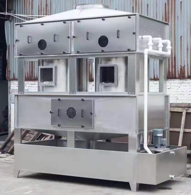方形喷淋塔废气净化设备 不锈钢方型喷淋塔 废气除臭洗涤塔