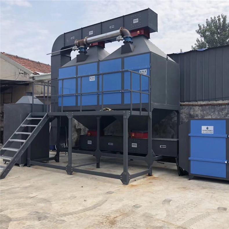 厂家直销催化燃烧设备活性炭吸附脱附VOCS催化燃烧废气处理设备