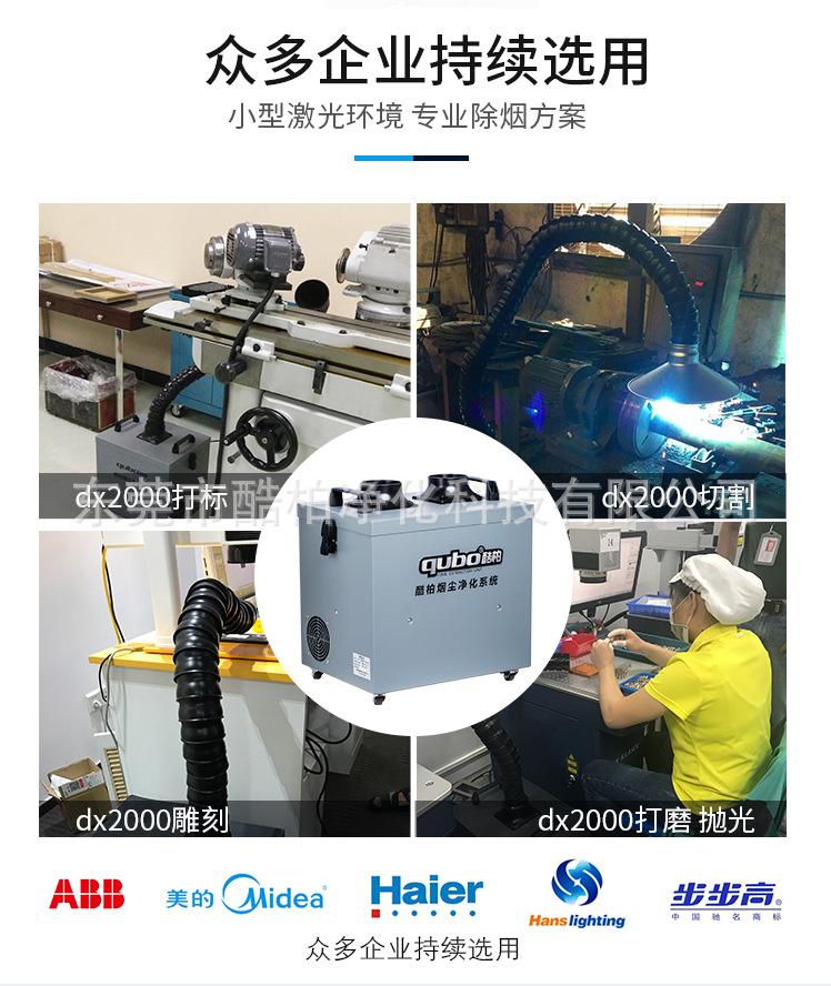 激光烟尘净化器DX2000被众多设备厂家配套使用