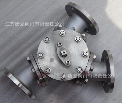 Q42F-25P手动Y型三通球阀 Q42F-25R不锈钢Y型球阀 120/135度球阀