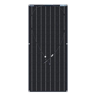 厂家直销单晶柔性板太阳能板18V/100W 光面PET黑色背板接线盒正面