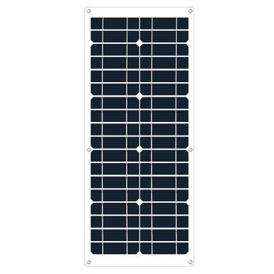 厂家现货太阳能板 单晶柔性35W层压太阳能光伏板便携太阳能充电板