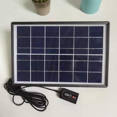 厂家直销6V6W太阳能板 USB稳压电盒充各种手机小系统鱼缸水泵