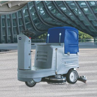 明诺驾驶式洗地机工厂医院酒店机场大厅瓷砖车库清洁扫地拖地机