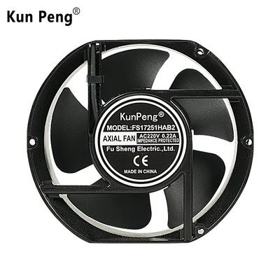 深圳福晟厂家供应17CM椭圆散热风扇工业排风扇220v机柜机箱散热