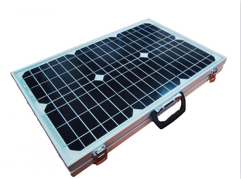 出厂促销 折叠50W单晶太阳能电池板 便携太阳能发电系统
