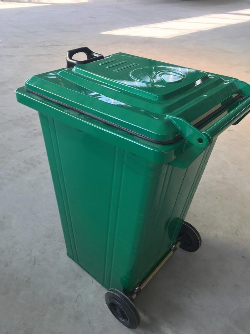 梁山厂家直销 铁皮垃圾桶 户外小区环卫垃圾桶 无焊接 不生锈工艺