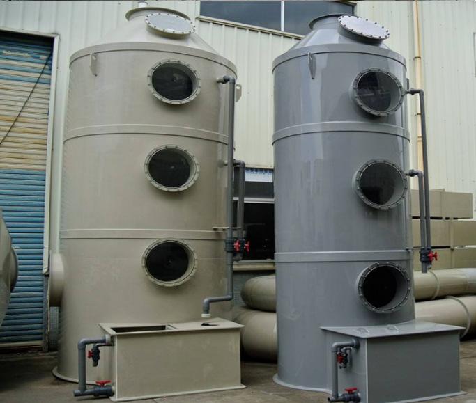 厂家供应塑料废气除臭处理设备 酸雾吸收喷淋塔 PP洗涤塔
