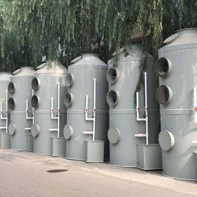 济南现货供应喷淋塔 废气吸收塔 工业废气处理塔 pp喷淋塔定金
