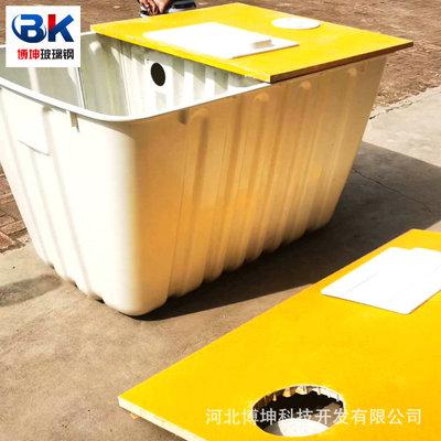 玻璃钢化粪池二八式28净水池方形三格新农村改厕1.5立方厂家供应